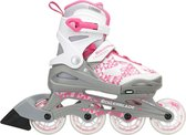 Rollerblade Inlineskates - Maat 36-40 - Unisex - wit,roze,grijs