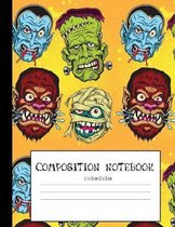 Monster Smash: Halloween Inspired Composition Notebook: Ideal For Middle Grad And High School Class Notes (College Ruled)