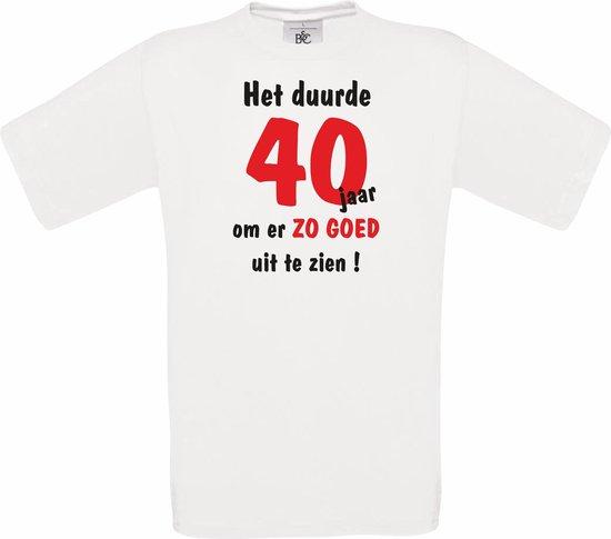 Mijncadeautje Heren leeftijd T-shirt Wit maat XL Het duurde 40 jaar om er zo goed uit te zien