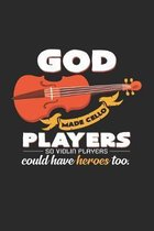 God made cello players Violin: 6x9 Cello - dotgrid - dot grid paper - notebook - notes