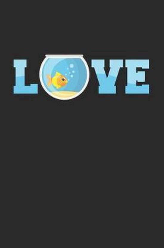 Love: 6x9 Aquarium - dotgrid - dot grid paper - notebook - notes
