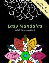 Easy mnadalas adult coloring book