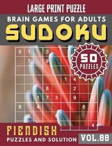 Sudoku for adults: sudoku puzzle books hardest - Full Page Hard Sudoku Maths Book to Challenge Your Brain