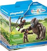 PLAYMOBIL Family Fun Dierenpark Gorilla met babies - 70360