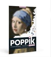Sticker kunst en poster op nummer - [POPPIK] Het Meisje met de parel, Vermeer poster - 2100 stickers vanaf 10 jaar