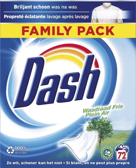 Dash Waspoeder Wasdraad Fris - Wasmiddel - 72 Wasbeurten