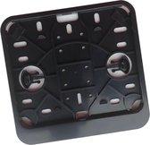 Kentekenplaathouder Scooter / Brommer ZWART ABS voor kentekenplaat 145x125mm NEDERLAND