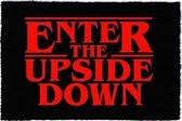 Stranger Things Enter The Upside Down - Deurmat - Rood | Zwart
