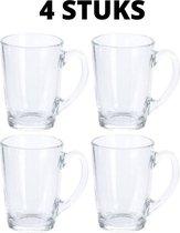 Theeglas - Koffiemok - Glas - Theeglas met Oor - Hittebestendig - Koffiemok - Koffieglas - Latte Macchiato Glazen -