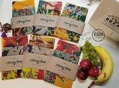 3 Bijenwas Wraps 'La Boheme' - Zero Waste - 3 maten - Herbruikbaar