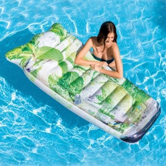 Intex Mojito-luchtbed 178 x 91 centimeter wit/groen