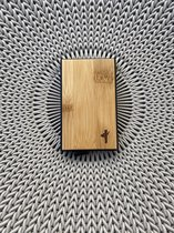 CustomBoo pasjeshouder bamboe | 7 pasjes | RFID Anti-skim | Premium cardholder