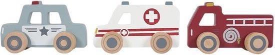 Little Dutch Speelgoed Hulpverleningsauto's - Speelgoedvoertuig