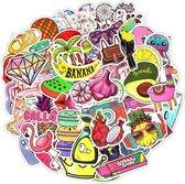Vsco girl stickers - 50 stickers - kleurrijke stickers - voor laptop, agenda, koffer, etc.