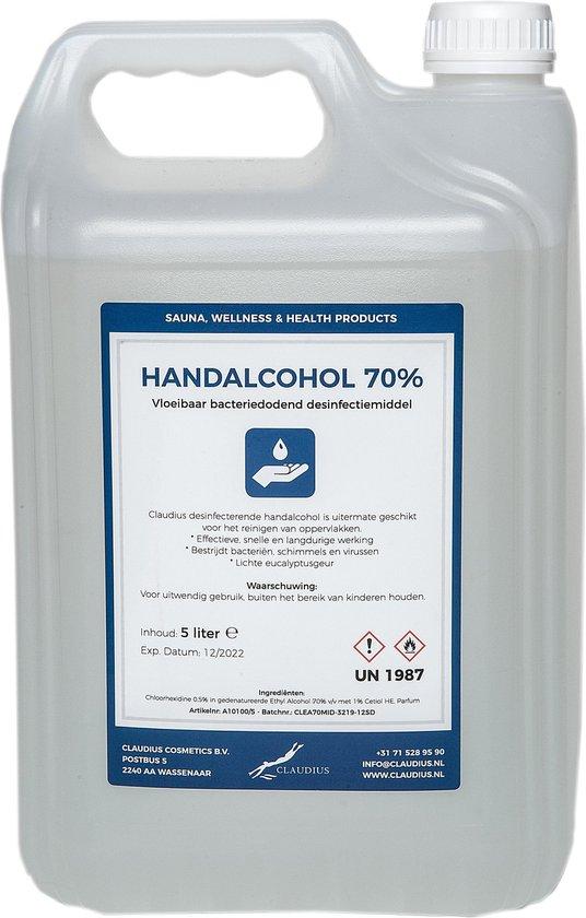 Afbeelding van Hand Alcohol Desinfectiespray 70% Gedenatureerd met IPA, MEK en Bitrex 5 liter / 5000 ml