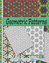 Geometric patterns: Coloring Book For Adults Relaxation