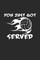 You just got served: 6x9 Volleyball - dotgrid - dot grid paper - notebook - notes