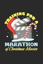 Training for a marathon of christmas movies: 6x9 Movies - dotgrid - dot grid paper - notebook - notes
