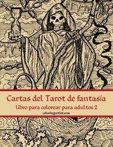 Cartas del Tarot de fantasia libro para colorear para adultos 2