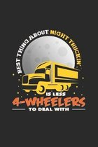 4-Wheelers: 6x9 Truck Driver - grid - squared paper - notebook - notes
