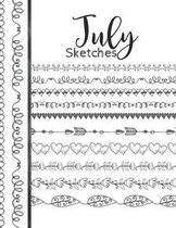 July Sketches: Astrology Sketchbook Activity Book Gift For Women & Girls - Daily Sketchpad To Draw And Sketch In As The Stars And Pla