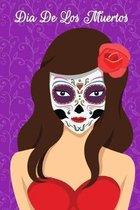 Dia De Los Muertos: Purple Gothic Skull Sketchbook Matte Cover 6x9 120 Pages