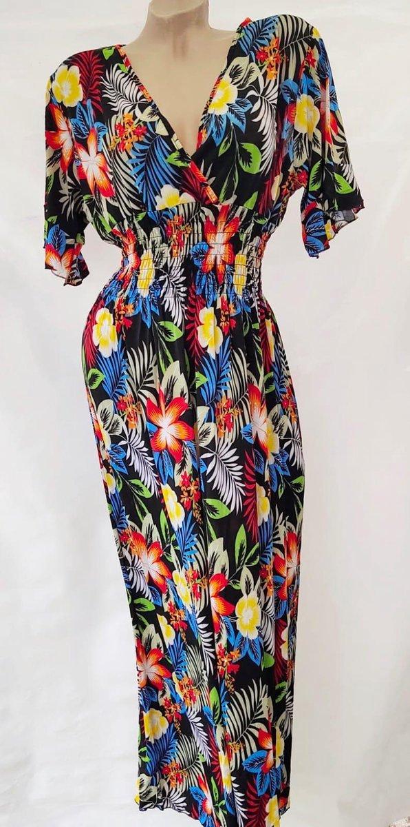 Merkloos Maxi jurk Dames Jurk One size zwart