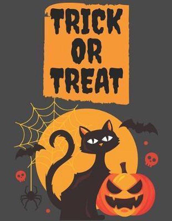 Trick or Treat: Happy Halloween Sketchbook: Halloween Characters Sketchbook, Sketching Halloween decorations, Drawing and Creative Doo