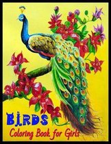BIRDS Coloring Book for Girls