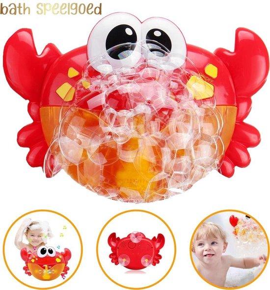 Bad Speelgoed - Muzikale Krab Met Muziekjes En Zeepbellen - Leuk Cadeau Voor De Kleinsten - Baby Speelgoed Voor In Bad - Rood