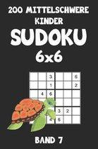 200 Mittelschwere Kinder Sudoku 6x6 Band 7: Sudoku Puzzle R�tselheft mit L�sung, 2 R�stel pro Seite
