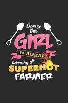 Sorry this girl is taken by a superhot farmer: 6x9 Farmer - dotgrid - dot grid paper - notebook - notes