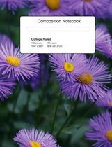 Composition Notebook, College Ruled: Purple Flowers, Floral Design