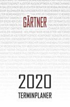 Gartner - 2020 Terminplaner