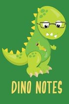 Dino Notes: Cute write and draw dinosaur notebook for boys or girls back to school or homeschool student.