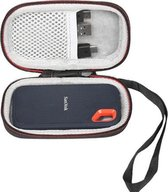Hard Cover hoesje voor SanDisk Extreme Portable SSD Externe Harde Schijf – Carry Case hoes – Opberghoes SanDisk - Zwart