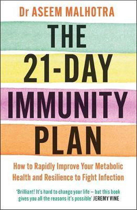Boek cover The 21-Day Immunity Plan van Dr Aseem Malhotra (Paperback)