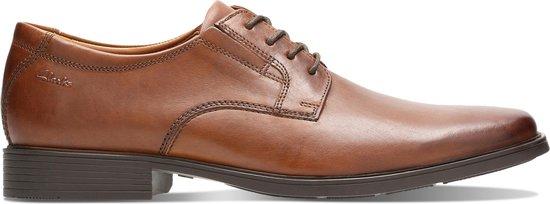 Clarks - Herenschoenen - Tilden Plain - G - dak tan leather - maat 7,5
