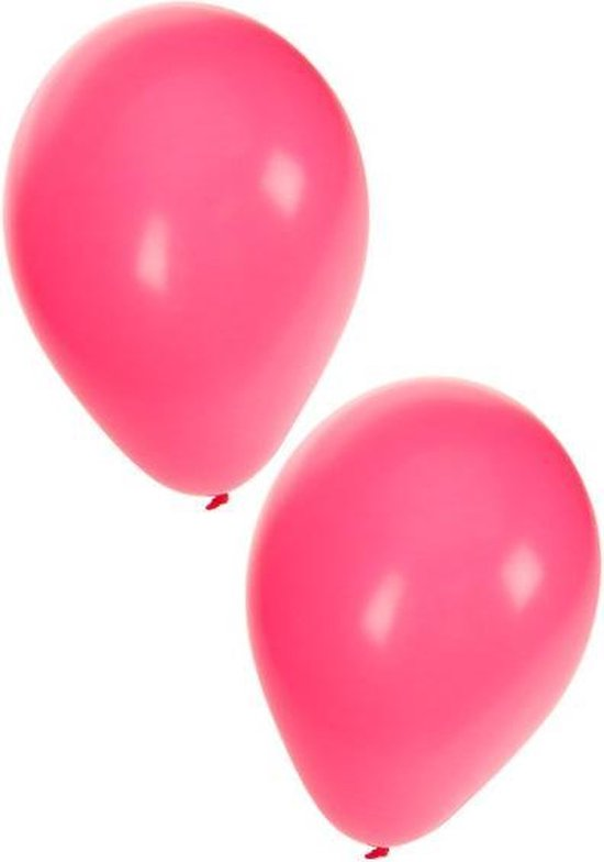 Roze ballonnen 10 stuks | Ballonnen roze voor lucht en helium