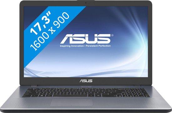 ASUS VivoBook 17 X705MA-BX025T Notebook Grijs 43,9 cm (17.3'') 1600 x 900 Pixels Intel® Pentium® Silver 4 GB DDR4-SDRAM 256 GB SSD Wi-Fi 5 (802.11ac) Windows 10 Home