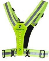 Rogelli - Reflectie Led Vest - Neon Yellow - One Size