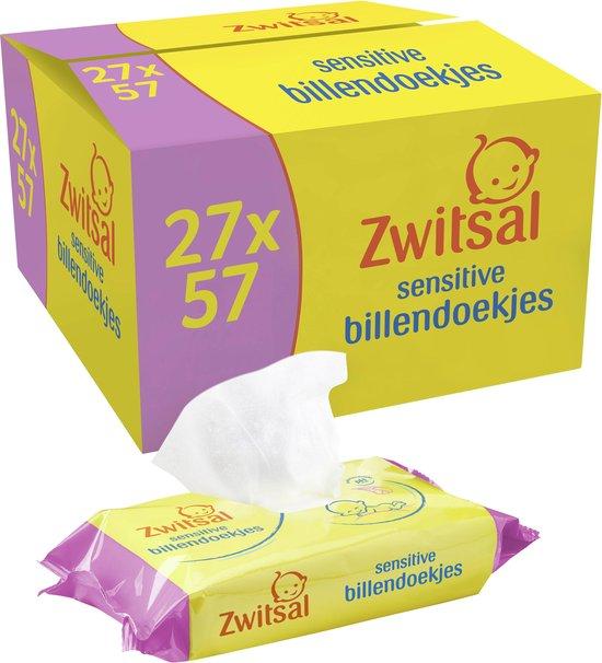 Afbeelding van Zwitsal Sensitive Billendoekjes - 1539 billendoekjes - Voordeelverpakking