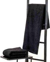 Bamboe sauna handdoek - saunadoek - Sauna Badlaken XXL zwart 200x90cm Massage Handdoek
