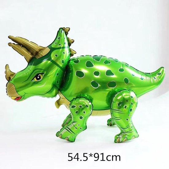 Folieballon van GROTE Dinosaurus (Triceratops) Groen (31256)