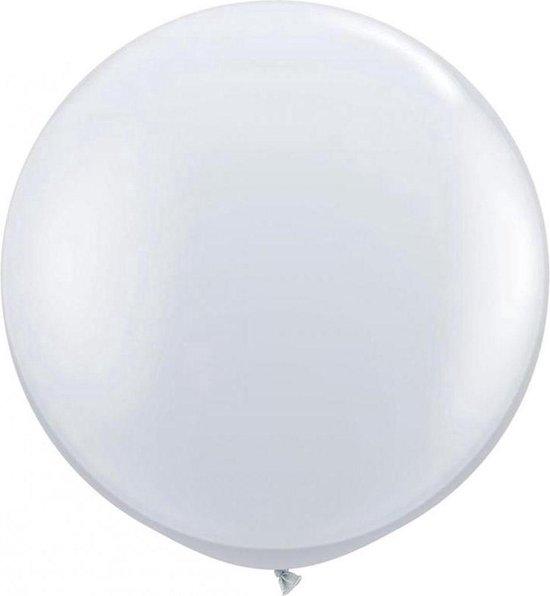 2x stuks transparante grote ballonnen 90 cm diameter - Feestartikelen/versieringen