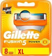 GILLETTE  Fusion Power + leaflet-8 stuks- Scheermesjes