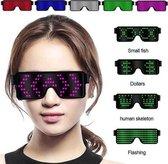 LED bril | 11 LED patronen | Met de bril op zie je zelf de ledjes niet | Op accu | LED Glasses | ROZE