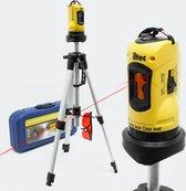Zelfnivellerende Kruislijnlaser - Laserwaterpas - Lijnlaser - Bouwlaser - Zelfnivellerend - Met statief - Opbergkoffer