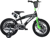 Dino Bikes Kinderfiets - BMX zwart/groen: 16 inch