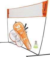 VICTOR badmintonnet EASY met VICTOR badmintonset hobby 1.6| 2 rackets en 2 shuttles